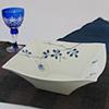 古染野バラ角盛鉢