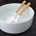 青白釉流し切立ち多用鉢