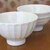 白磁手彫茶碗